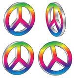 Signes de paix Illustration de Vecteur