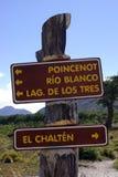 Signes de parc, Argentine Photos stock