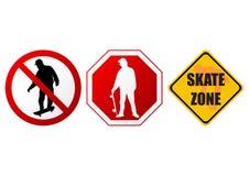 Signes de patin Photographie stock