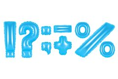 Signes de ponctuation, couleur bleue Image libre de droits