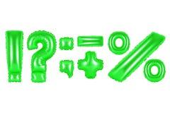 Signes de ponctuation, couleur verte Photo stock