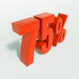 75 signes de pourcentage, 75 pour cent Image stock