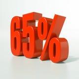 65 signes de pourcentage, 65 pour cent Image stock