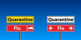 signes de quarantaine de grippe illustration stock