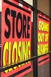 Signes de récession Images libres de droits