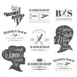 Signes de raseur-coiffeur illustration de vecteur