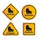 Signes de roller Photos stock