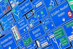 Signes de route photo stock