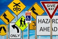 Signes de route Photographie stock