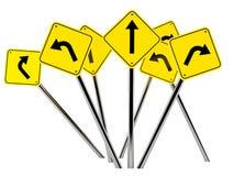 Signes de route Photos libres de droits