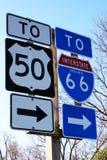 Signes de route américains Image libre de droits