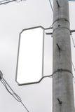 Signes de route blanc Images stock