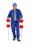 Signes de route de fixation de constructeur. Photographie stock