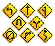 Panneaux routiers de flèches Image stock