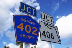 Signes de route de la Floride Images libres de droits