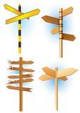 signes de route de sens illustration de vecteur