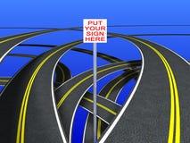 Signes de route (doublez la bande) Images libres de droits