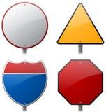 Signes de route et de route Photos stock