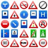 Signes de route réglés illustration libre de droits