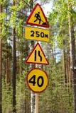Signes de route réparation Photo stock