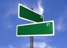 Signes de rue blanc Photos libres de droits