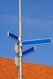 Signes de rue blanc Photographie stock