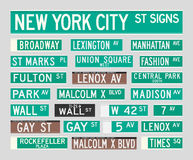 Signes de rue de New York Photos libres de droits