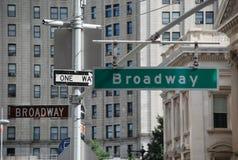 Signes de rue de New York Photo libre de droits