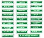 Signes de rue de New York City illustration stock