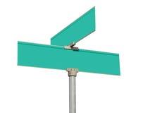 Signes de rue verts blanc Photos libres de droits