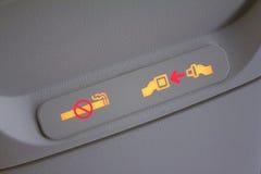 Signes de sécurité d'avion Images libres de droits