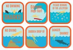 Signes de sécurité de plage illustration libre de droits