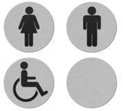 signes de salle de bains illustration stock