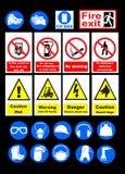 Signes de sécurité Photographie stock libre de droits