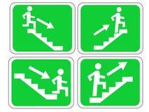 Signes de sortie de secours Photo libre de droits