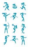 Signes de sport de femme Photographie stock libre de droits