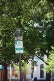 Signes de stationnement Photo libre de droits