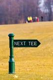 Signes de té de golf Image stock