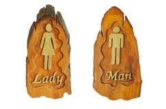 Signes de toilette Images libres de droits