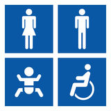 Signes de toilette Photographie stock