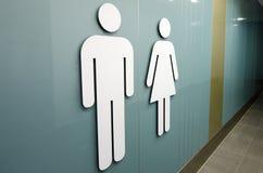 Signes de toilette image stock