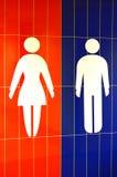 Signes de toilette photos stock