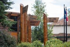 Signes de touristes Image libre de droits