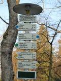 Signes de touristes, Bohême du sud Images libres de droits