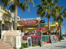 Signes de touristes de carte de restaurant, Espagne Photo libre de droits