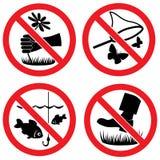 Signes de vecteur de protection de nature illustration stock