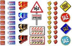 Signes de vente Photographie stock libre de droits