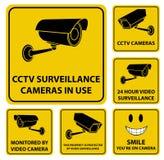 Signes de vidéo surveillance illustration stock