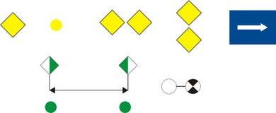 Signes de voie d'eau, instructifs Illustration de Vecteur