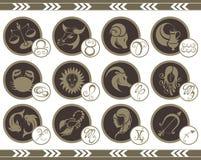 Signes de zodiaque illustration libre de droits